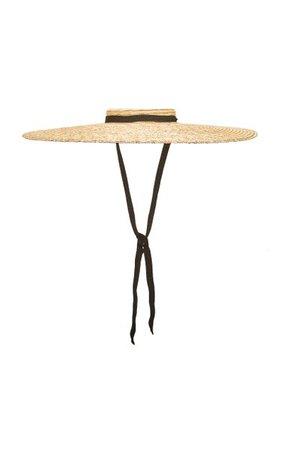 Le Chapeau Santon Grosgrain-Trimmed Straw Hat By Jacquemus | Moda Operandi