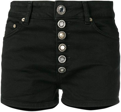 buttoned denim shorts