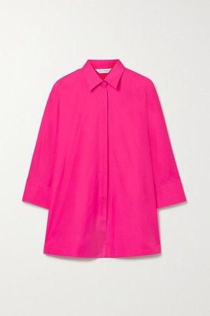 Aleggio Cotton-poplin Shirt - Fuchsia