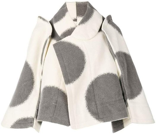 Pre-Owned oversized polka dots cape