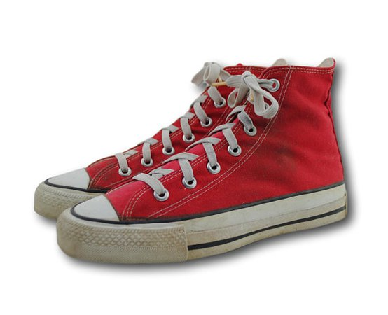 Vintage USA Converse All Star Chuck Taylor Red Canvas Hi Top