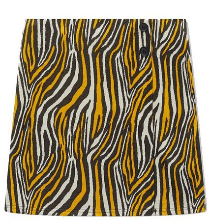 Womens Multi Coloured Zebra Print Mini Skirt