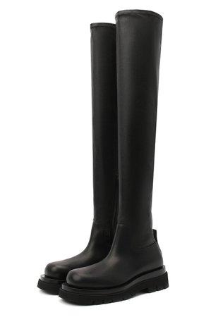 Женские черные кожаные ботфорты bv lug BOTTEGA VENETA — купить за 106500 руб. в интернет-магазине ЦУМ, арт. 630302/VBP71