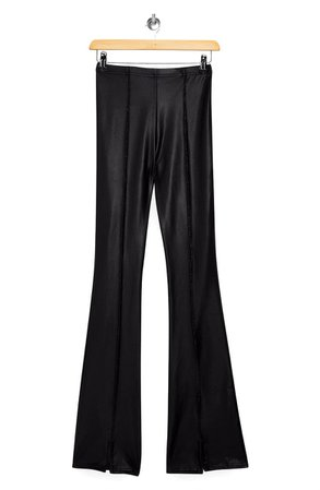 Topshop Faux Leather Split Flare Pants (Petite)   Nordstrom