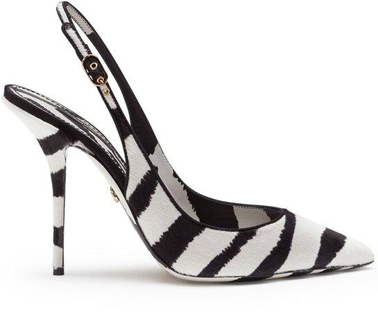Zebra-Print Slingback Pumps