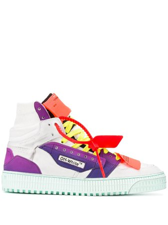 Off-White Fluo lace-up high-top Sneakers - Farfetch