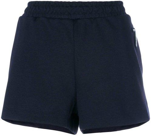 applique detail jersey shorts