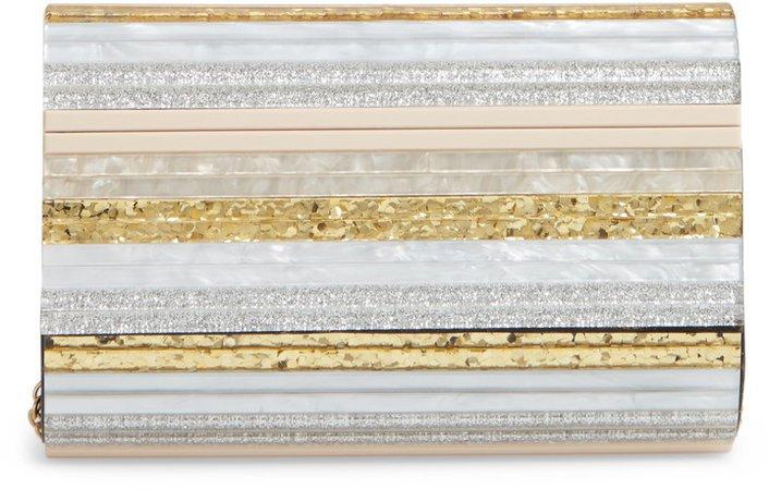 Stripe Envelope Clutch