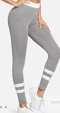 Contrast Stripe Skinny Leggings