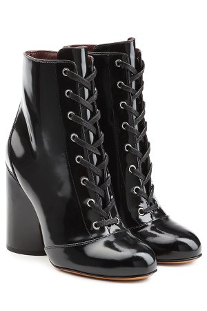Patent Leather Ankle Boots Gr. IT 38.5