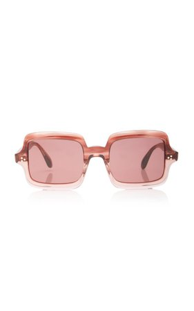 Avri Square-Frame Acetate Sunglasses By Oliver Peoples | Moda Operandi