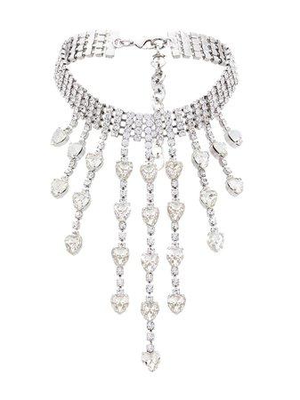 Alessandra Rich Crystal Drop Choker - Farfetch