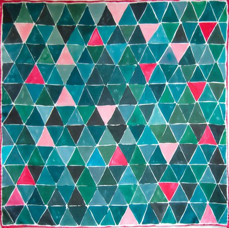 triangle scarf green
