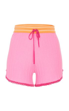 LoveShackFancy Pax High Waist Cotton Short Size: M