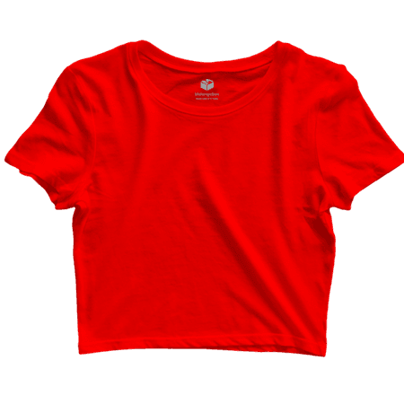 Red Cropped Tee