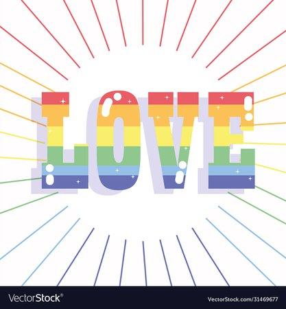 Happy pride day rainbow love lettering lgbt Vector Image