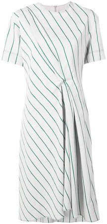 striped short-sleeve dress