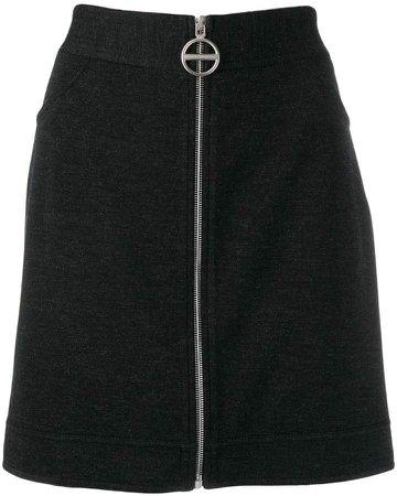 zipped-up skirt