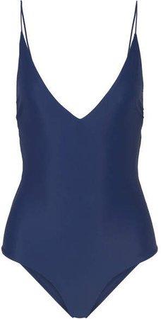 Fine Line Swimsuit - Navy