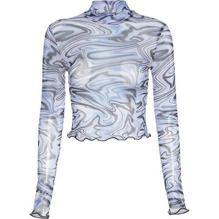 Bababy Long-Sleeve Printed Mesh Top | YesStyle