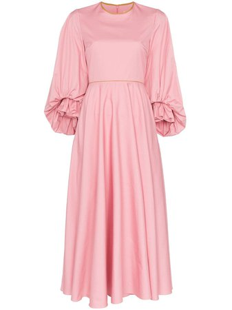 Roksanda Fife Balloon-Sleeve Midi-Dress | Farfetch.com
