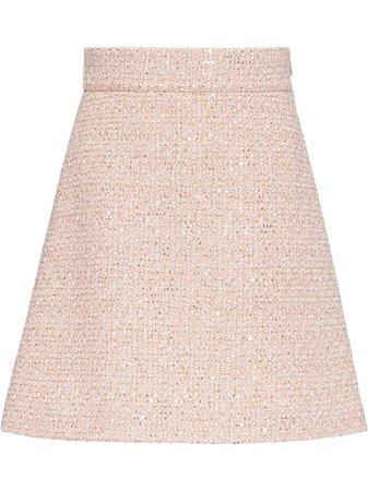 Miu Miu sequin-embellished tweed mini skirt