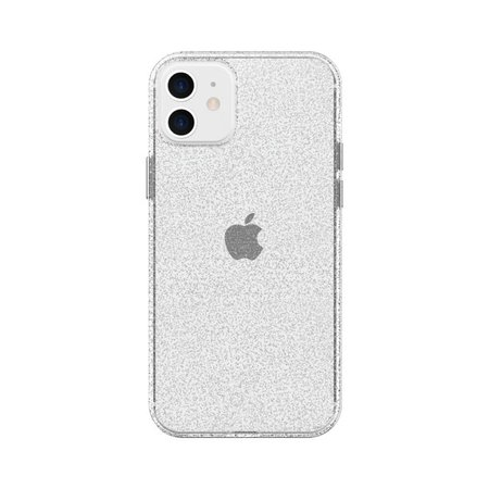 Clear with Silver Glitter Phone Case for iPhone 12, iPhone 12 Pro - Walmart.com - Walmart.com