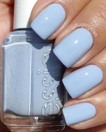 Essie light blue nail polish.