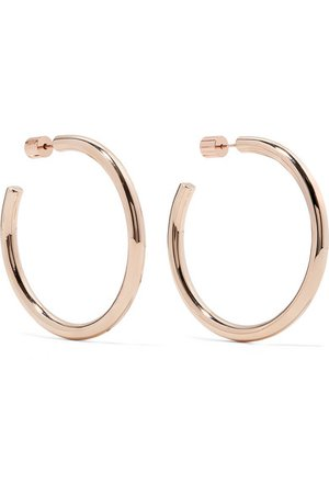 Jennifer Fisher | Baby Lilly rose gold-plated hoop earrings | NET-A-PORTER.COM