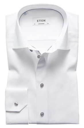 Eton Contemporary Fit Twill Dress Shirt | Nordstrom