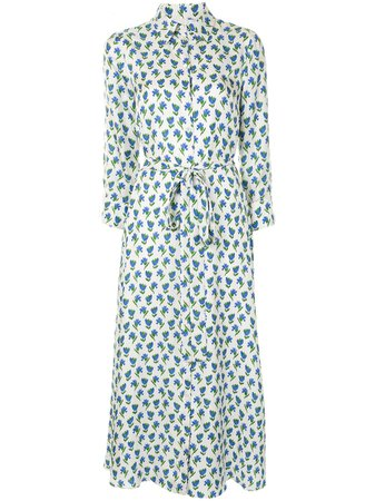Carolina Herrera, Floral Tied Waist Midi Dress