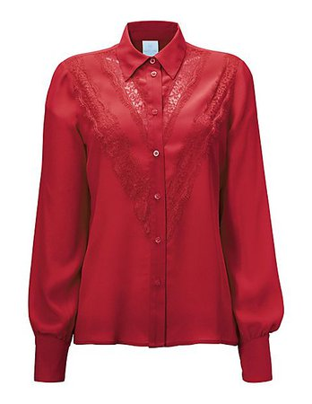 Blouse, cherry red, red | MADELEINE Fashion