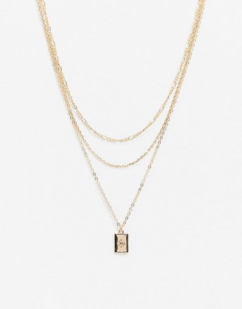 Liars & Lovers multirow necklace in gold with star pendant | ASOS