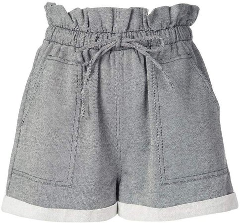 Callipygian paperbag waist shorts
