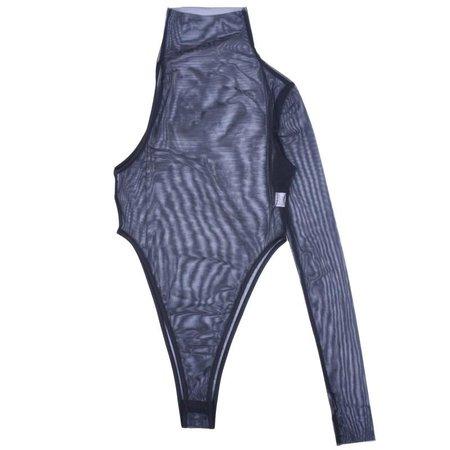 High Life Mesh One-Shoulder Bodysuit – KlosetLovers Rx