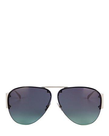 Bottega Veneta Rimless Pilot Aviator Sunglasses | INTERMIX®