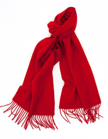 red wool scarf - Google Search