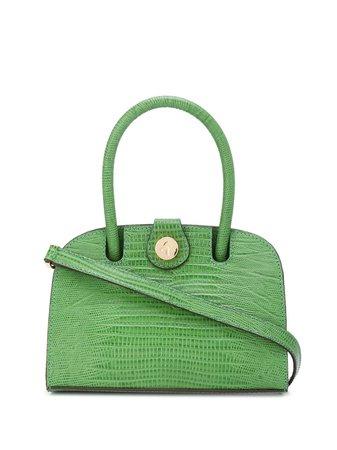 Manu Atelier Crocodile Embossed Tote Bag 2018036 Green | Farfetch