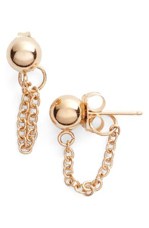Poppy Finch Gold Ball Chain Earrings | Nordstrom