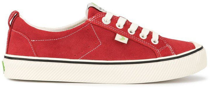 OCA Low Stripe Samba Red Suede Contrast Thread Sneaker