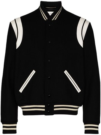 Saint Laurent Teddy Wool Bomber Jacket - Farfetch