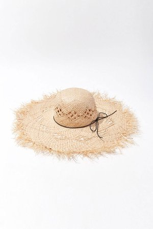 Frayed Floppy Straw Hat | Forever 21