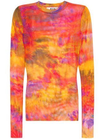 MSGM tie-dye mesh top $39 - Buy Online - Mobile Friendly, Fast Delivery, Price