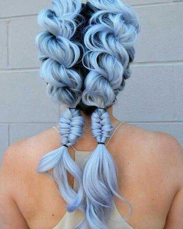 blue pigtails