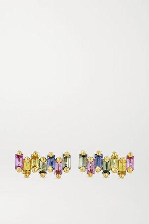 Gold 18-karat gold sapphire earrings | Suzanne Kalan | NET-A-PORTER