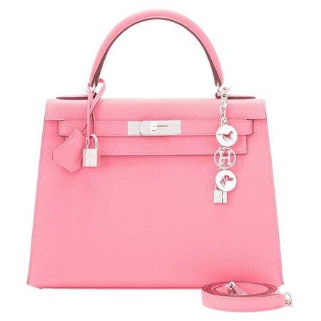 Hermes Kelly 28cm Rose Confetti Pink Sellier Shoulder Bag Y Stamp, 2020 For Sale at 1stDibs