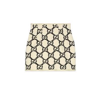 White / Black GG Tweed Mini Skirt | GUCCI® International