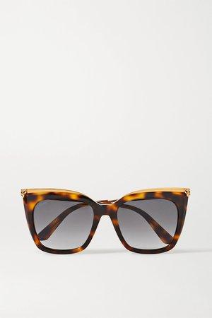 Tortoiseshell Cat-eye gold-tone and tortoiseshell acetate sunglasses | Cartier Eyewear | NET-A-PORTER