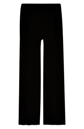 Topshop Ribbed Wide Leg Trousers | Nordstrom