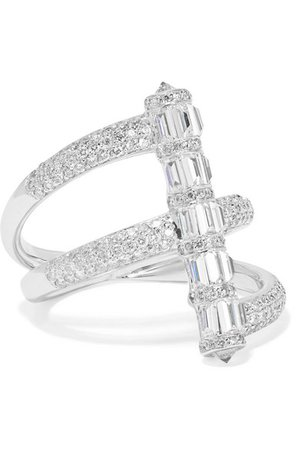 Martin Katz | 18-karat white gold diamond ring | NET-A-PORTER.COM